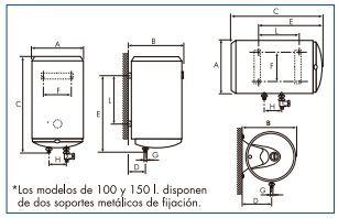 Termo eléctrico Cointra Aral TB-100_product