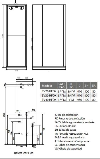 Caldera de gasoil Domusa Evolution EV 30 HFDX_product