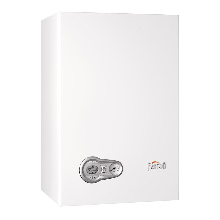 Caldera Ferroli BLUEHELIX TECH 35 C + Nuevo cronoTermostato Wifi + Kit salida gases estándar