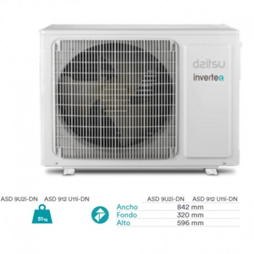 Aire acondicionado 2x1 Daitsu ASD912u11i-DN