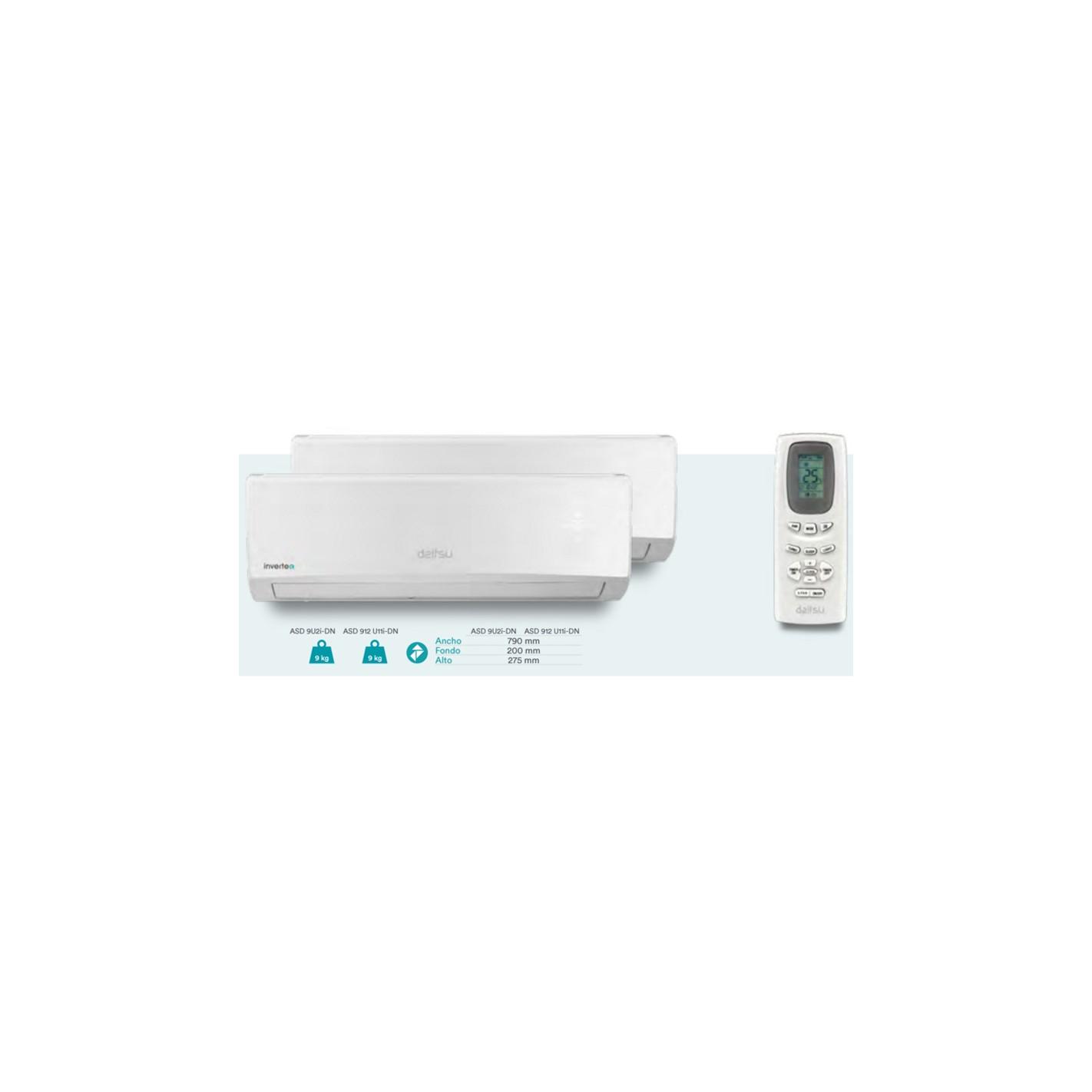Aire acondicionado 2x1 daitsu asd912u11i dn compra online for Aire acondicionado 2x1
