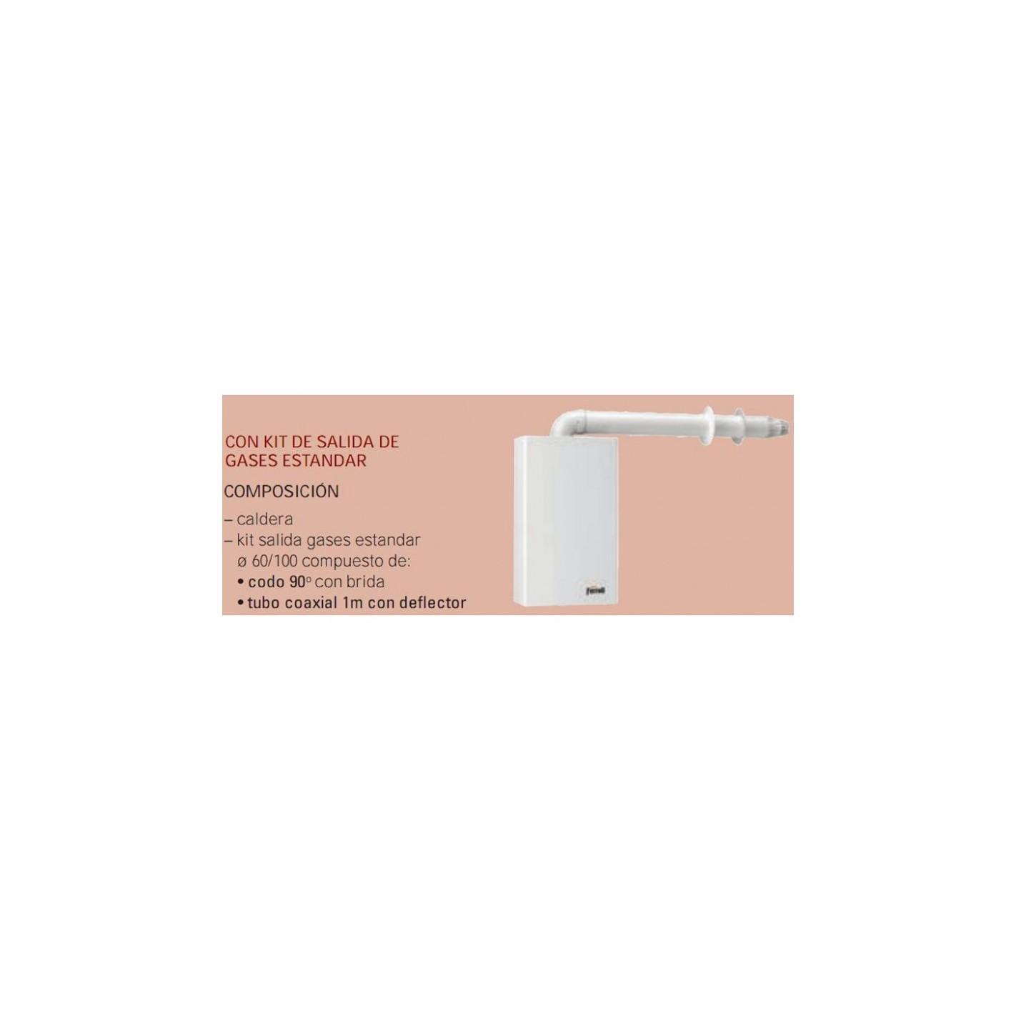 Caldera ferroli bluehelix tech 35 c kit compra online for Normativa salida de humos calderas