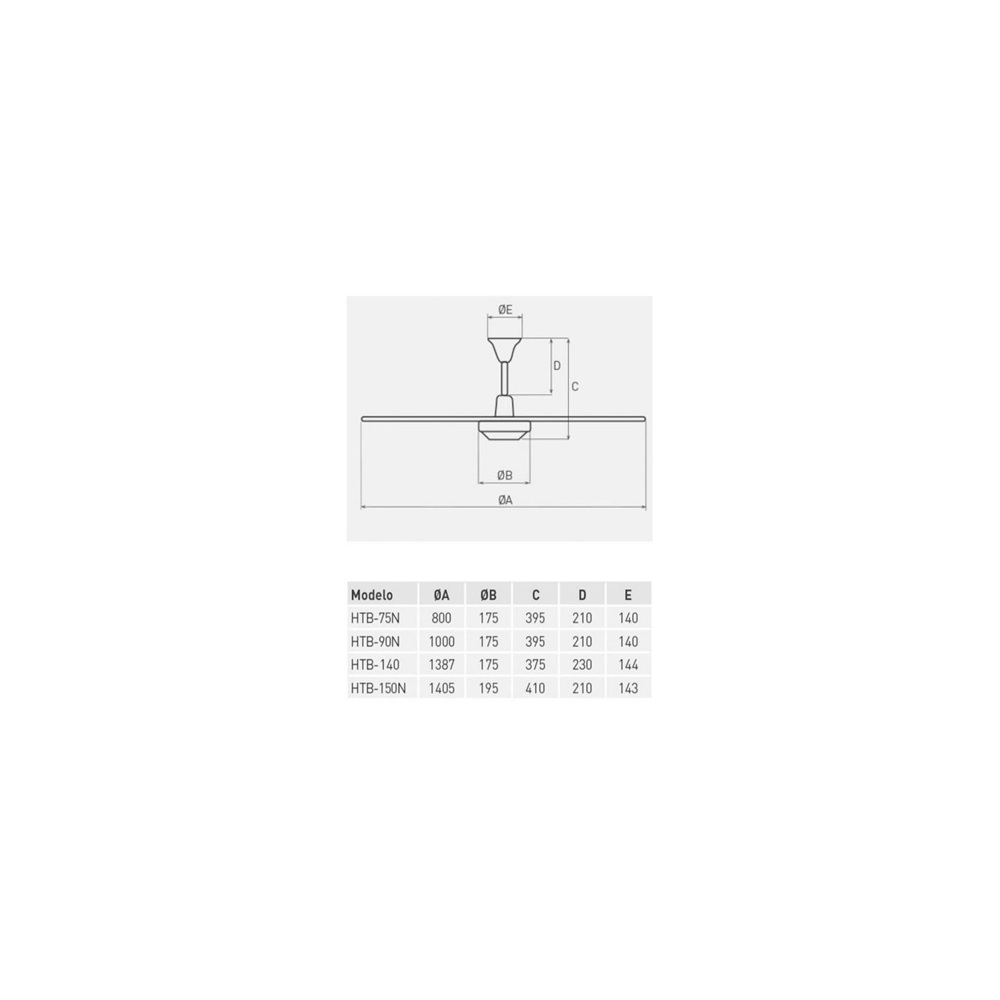 Ventilador de techo S&P HTB 90 N