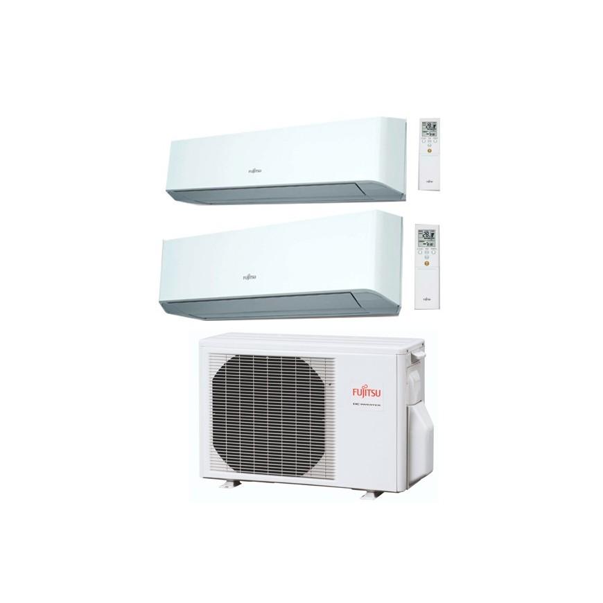 Aire acondicionado Fujitsu 2x1 AOY 40 UI M I2 + ASY20MI LMC + ASY20 MI LMC