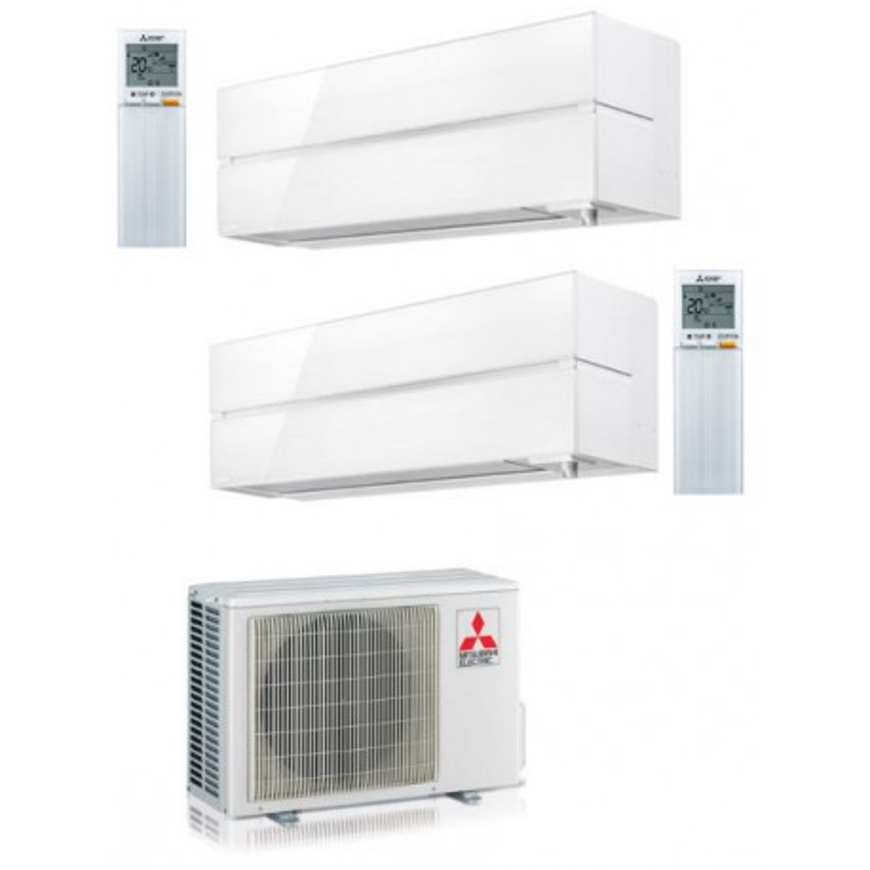 Aire acondicionado 2x1 Mitsubisihi MXZ-2F53VF + LN25VG +LN35VG