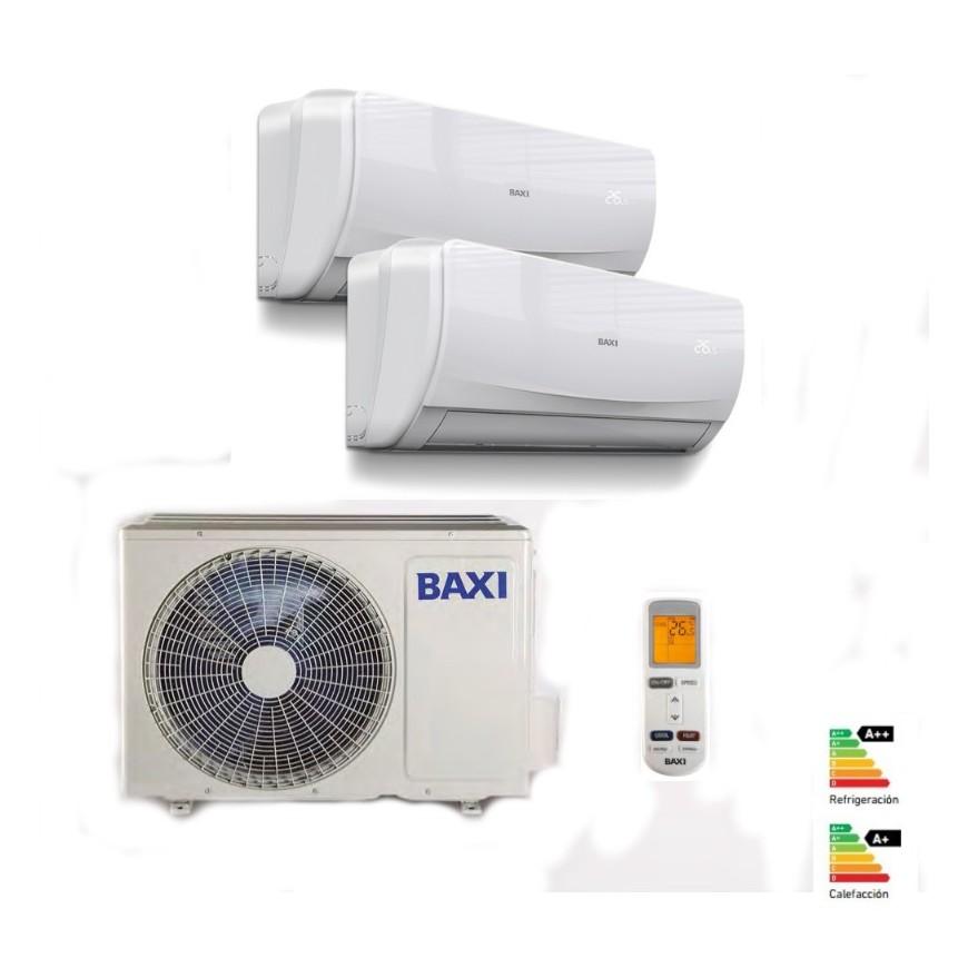 Aire acondicionado BAXI  Anori 2x1 con externa de 50 y dos internas de 25 y 35