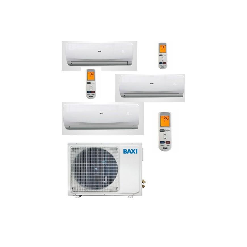 Aire acondicionado Baxi 3x1 LSG70-3M + LSGNW25 + LSGNW25 + LSGNW35
