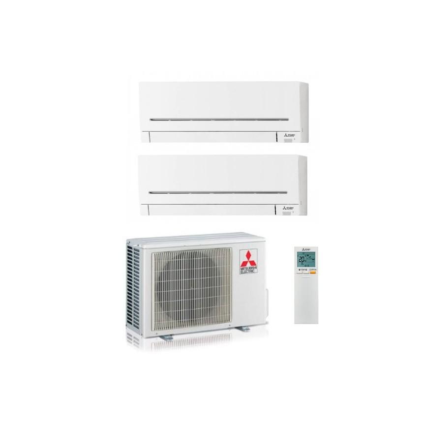 Aire acondicionado mitsubishi 2x1 MXZ-2F53VF+MSZ-AP25VGK+MSZ-AP50VGK
