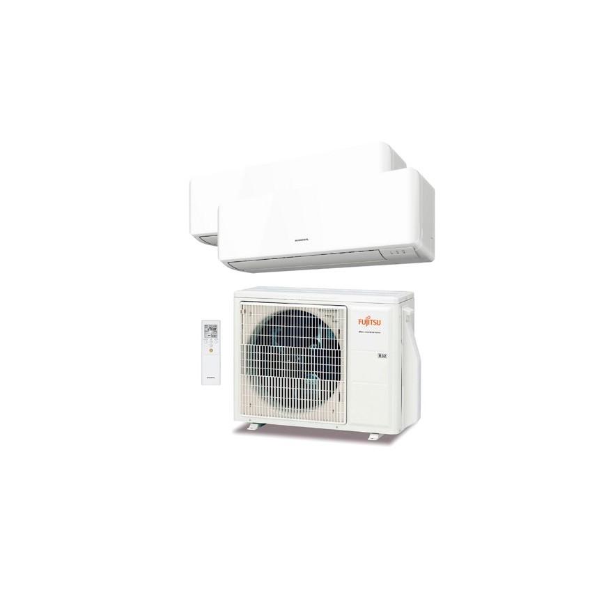 Aire acondicionado fujitsu 2x1 AOY50UI-KB + ASY25MI-KM + ASY35MI-KM