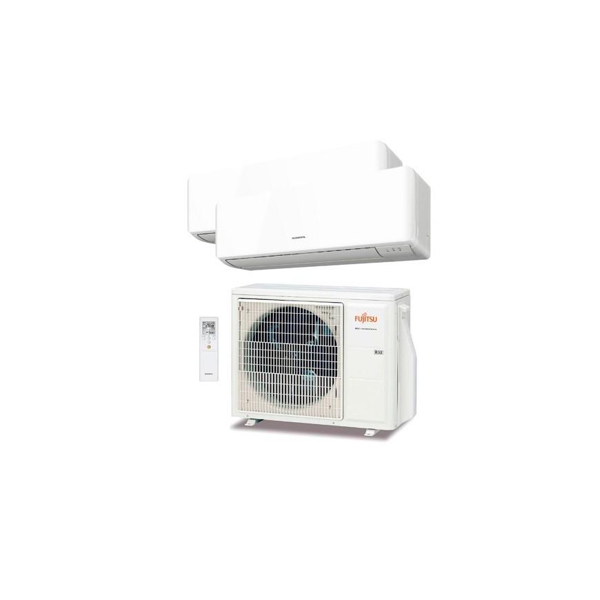 Aire Acondicionado 2x1 Fujitsu AOY40UI-KB + ASY 25 MI-KM + ASY 25 MI-KM