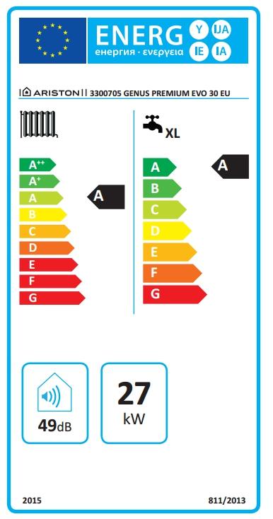 Caldera de gas de condensación Ariston Genus Premium EVO 30 FF EU_product