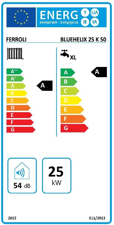 Caldera a gas de condensación Ferroli BLUEHELIX TECH 25 K 50_product