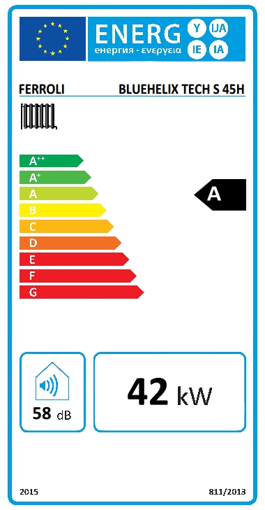 Caldera a gas de condensación Ferroli BLUEHELIX TECH S 45 H N_product
