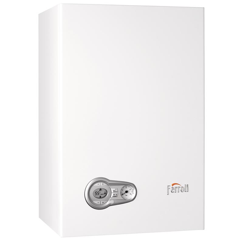 Caldera a gas de condensación Ferroli BLUEHELIX TECH 35 C + Nuevo cronotermostato Wifi + Kit salida gases estándar