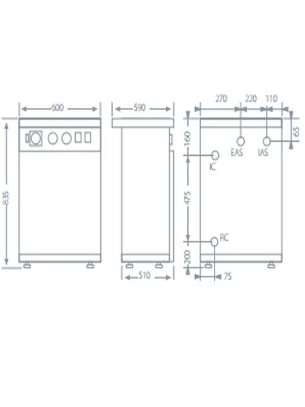Caldera eléctrica Domusa HDCS 45/90 ACUMULADOR 80 L_product