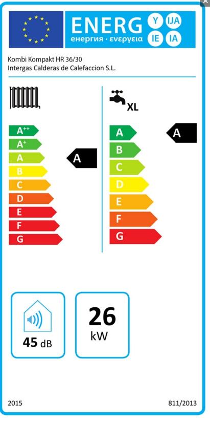 Caldera a gas de condensación ACV Prestige Kombi Kompakt HR eco 30-36_product
