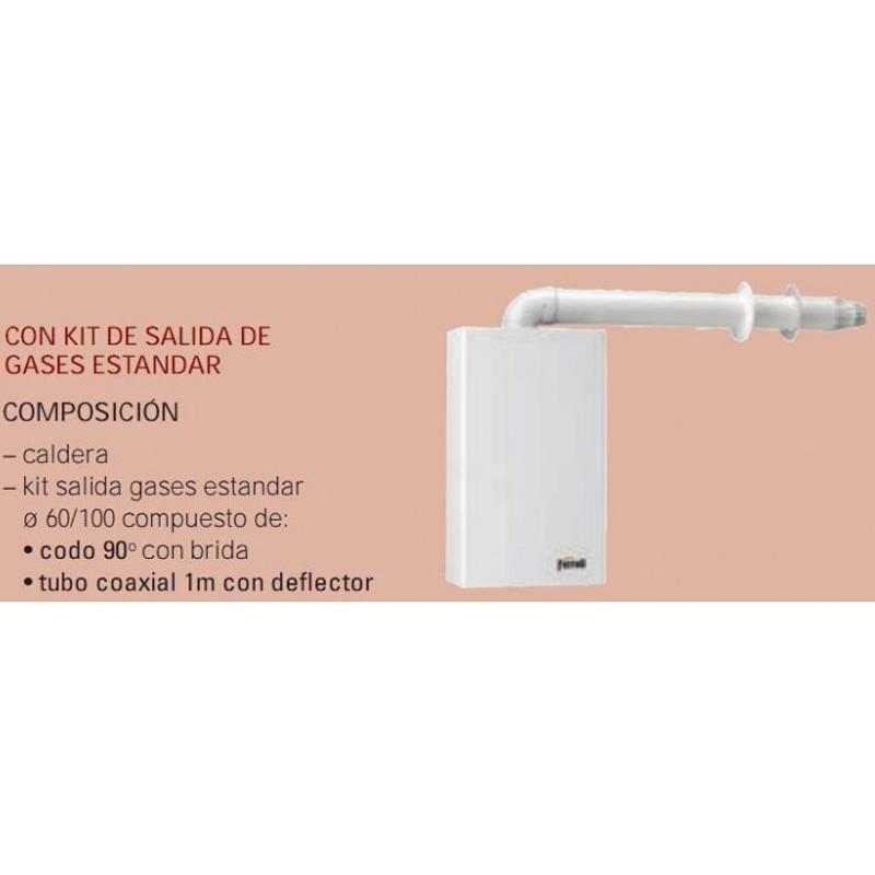 Caldera a gas de condensación Ferroli BLUEHELIX TECH 25 K 50 N + kit salida de gases estándar_product