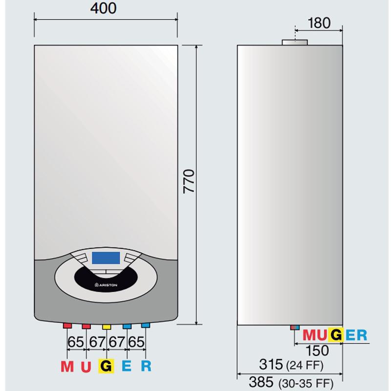 Caldera de condensacion Ariston Genus Premium EVO 24 FF EU_product