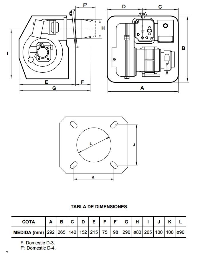 Quemador Domusa Domestic D-3P_product