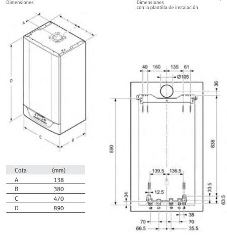 Caldera de gas  de condensación Saunier Duval Isofast Condens 35_product