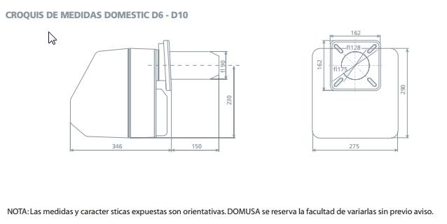 Quemador Domusa Domestic D-10