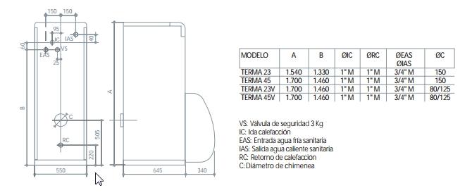 Caldera de gasoleo Domusa Terma 23 HV con kit Suelo Radiante_product