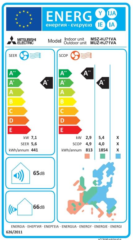 Aire acondicionado mitsubishi MSZ-HJ71VA_product