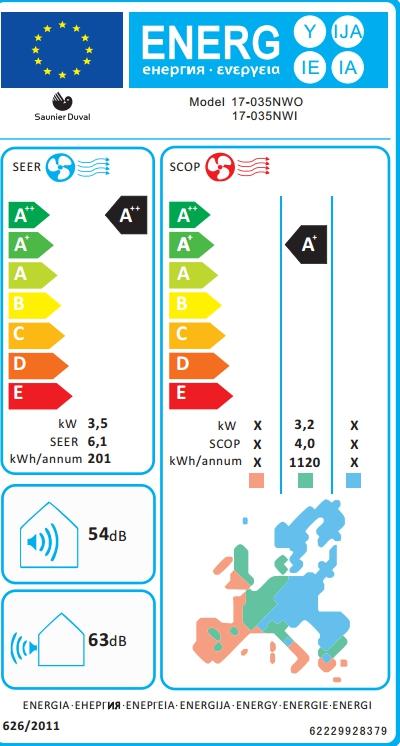 Aire acondicionado Saunier Duval SDH 17-035 NW Split 1x1_product