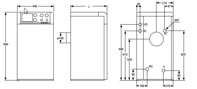 Caldera de gasoil Domusa Sirena Mix Duo HFD 30 E_product