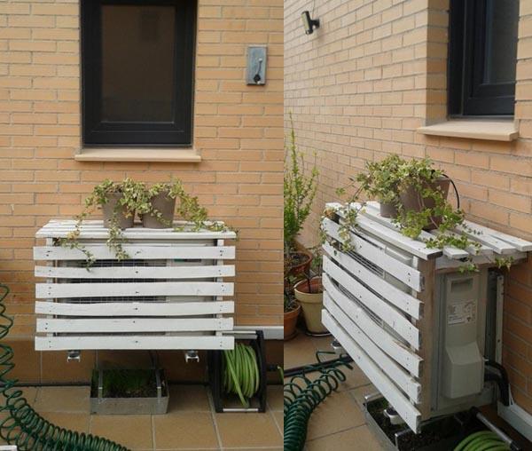 Bonitas ideas para ocultar el aire acondicionado exterior for Ocultar lavadora