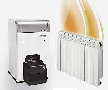 calefacción por caldera de gasoil