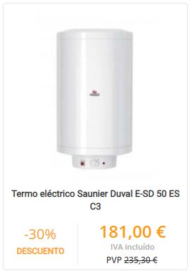 termo eléctrico saunier duval
