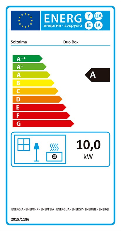 Etiqueta eficiencia energética Estufa Duo Box
