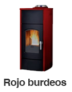 Estufa de pellets TINA PLUS - Rojo Burdeos