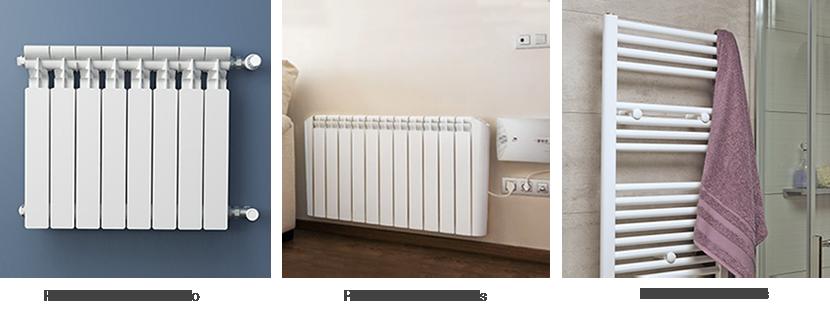 Radiadores de aluminio, eléctricos y toalleros