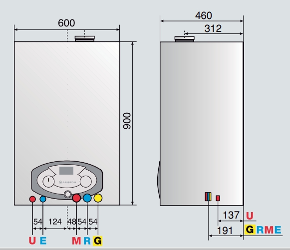 Caldera de condensación Ariston Clas B Premium EVO 35 FF EU_product