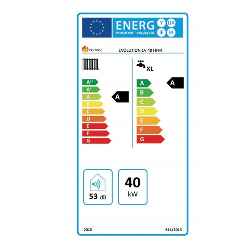 Eficiencia energética caldera GASOIL DOMUSA EVOLUTION EV 40 HFM