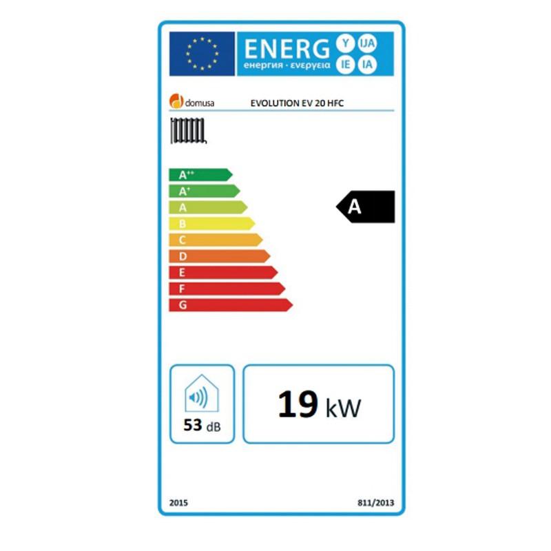 Clasificación energética Domusa Evolution EV 20 HFC