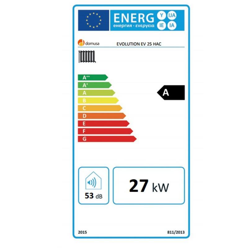 Eficiencia energética de la caldera gasoil DOMUSA EVOLUTION EV 25 HAC