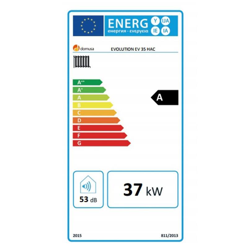 Eficiencia energética DOMUSA EVOLUTION EV35 HAC