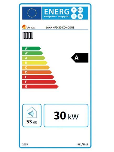 Calificación energética de la caldera DOMUSA JAKA 30 HFD CONDENS