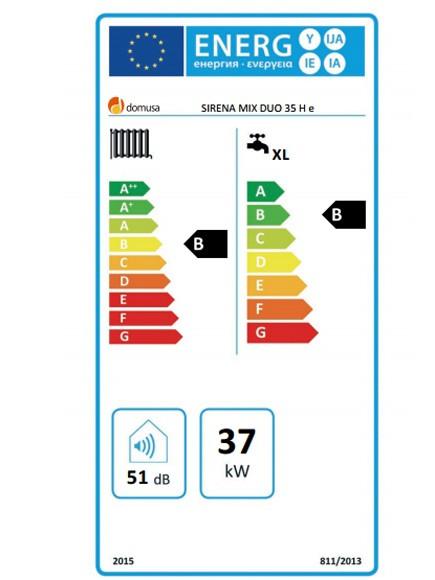 Clasificación energética Domusa Sirena Mix Duo 35 H E