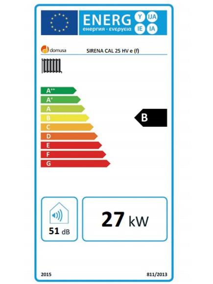 Clasificación energética Sirena Cal 25 HV E