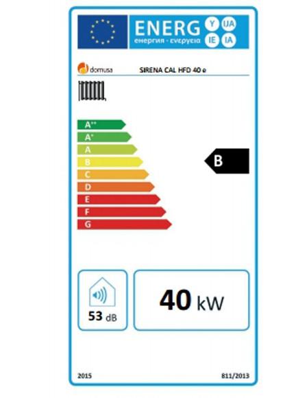Clasificación energética Sirena Cal HFD 40 E