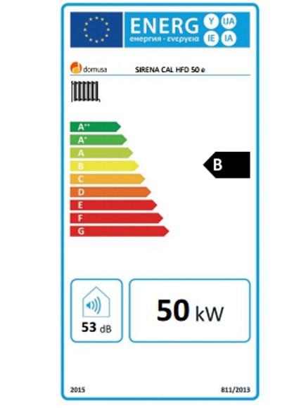 Clasificación energética Sirena Cal HFD 50