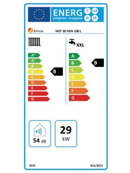 Clasificación energética Domusa MCF 30 HDN