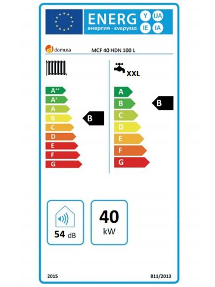 Clasificación energética Domusa MCF 40 HDN
