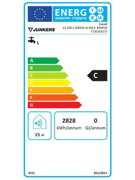 Clasificación energética termo eléctrico Junkers Elacell 100L