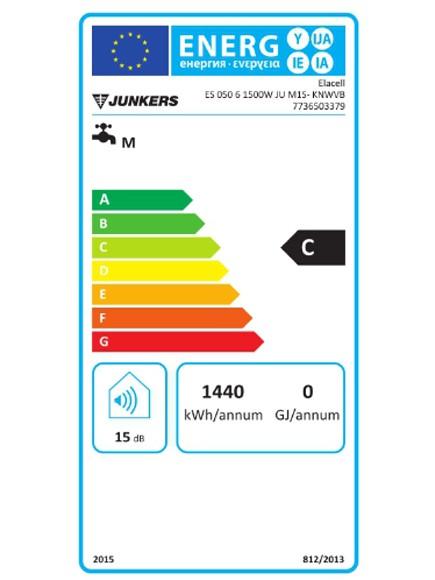 Clasificación energética junkers Elacell Slim 50L vertical