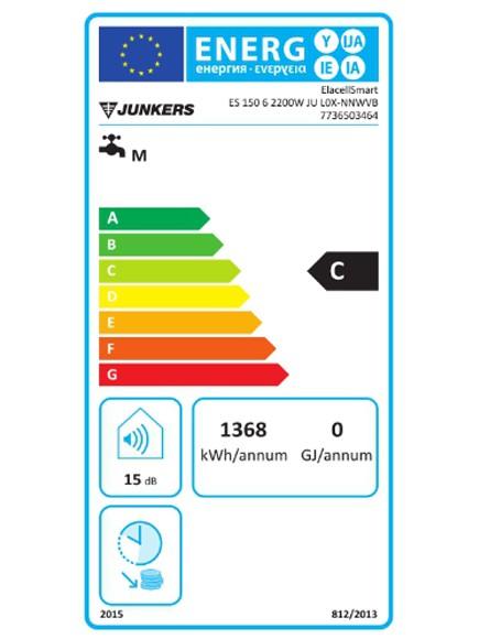 Clasificación energética Junkers Elacell 150 L altos litrajes